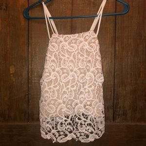Do&Be High Neck Lace Tank Top